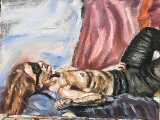 "Body study. Oil on canvas. 18"" x 24"". 2019."