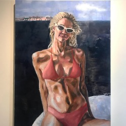 "400,000+ likes. Oil on canvas. 36"" x 48"". 2019"