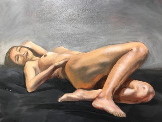 "Nude study. Oil on canvas. 18"" x 24"""